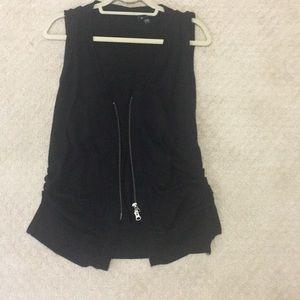Black Bebe vest